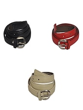 Robb Club Women multicolored Artificial Leather Belt -  online shopping for belts