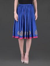 Block Printed Cotton Skirt - 9rasa