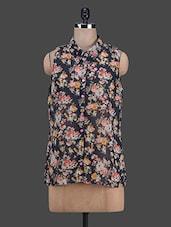 Floral Printed Sheer Georgette Shirt - RUTE