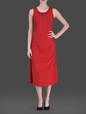 Red Embellished Long Dress - LABEL Ritu Kumar