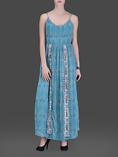 Blue Printed Maxi Dress - LABEL Ritu Kumar