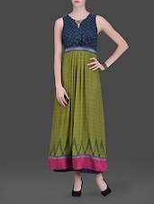 Olive Green Embellished Maxi Dress - LABEL Ritu Kumar