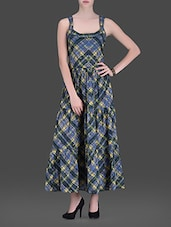 Green Printed Maxi Dress - LABEL Ritu Kumar