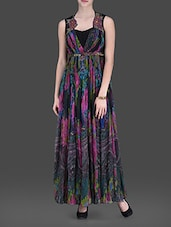 Multicolored Printed Maxi Dress - LABEL Ritu Kumar - 1131402