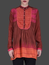 Brown Printed Full-sleeved Shirt - LABEL Ritu Kumar