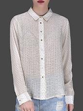 Off-white Printed Viscose Shirt - LABEL Ritu Kumar