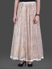 Offwhite Printed Flared Maxi Skirt - LABEL Ritu Kumar
