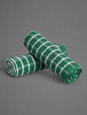 Set Of 2 Dark Green Cotton Kitchen Towels - Malang