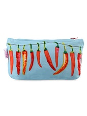 Sky Blue Chilies Printed Utility Pouch - Malang