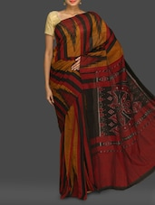 Multicoloured Printed Pure Cotton Katki Saree - Komal Sarees