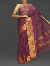 Printed Zari Handloom Cotton Saree - Komal Sarees