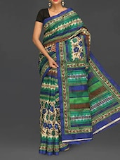 Floral Print Bhagalpuri Silk Saree - Komal Sarees