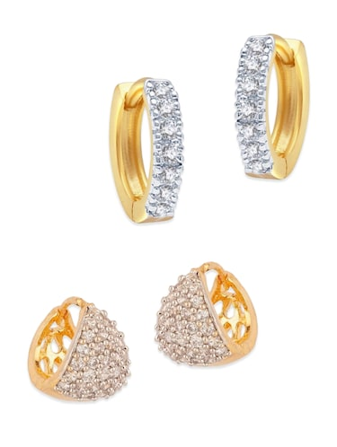 white gold plated bali earring - 11343249 - Standard Image - 1
