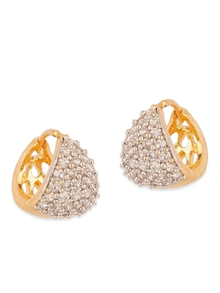 white gold plated bali earring - 11343249 - Standard Image - 4