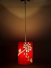 Red Bird Print Handmade Ceiling Lamp - Craftter