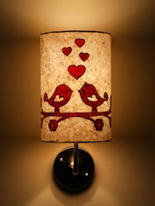 White Love Birds Wall Lamp - Craftter