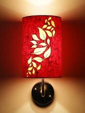 Orange Leaf Patterned Wall Lamp - Craftter