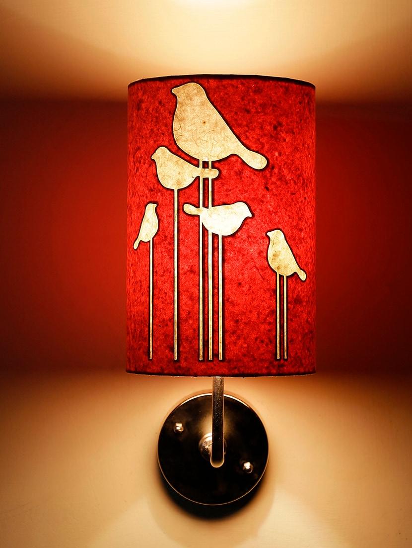 Orange Birds Wall Lamp - Craftter