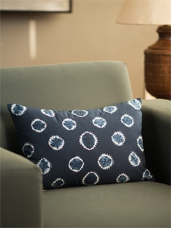 Tie And Die Cushion Cover In Classic Indigo - Art Age