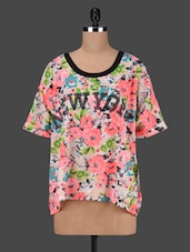 Round Neck Floral Print Top - AVIDDIVA