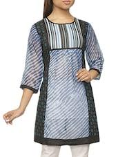 Quarter Sleeves Leheriya Print Kurti - Pazaar Purba
