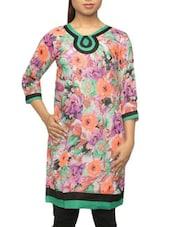 Quarter Sleeves Floral Print Kurta - Pazaar Rashi
