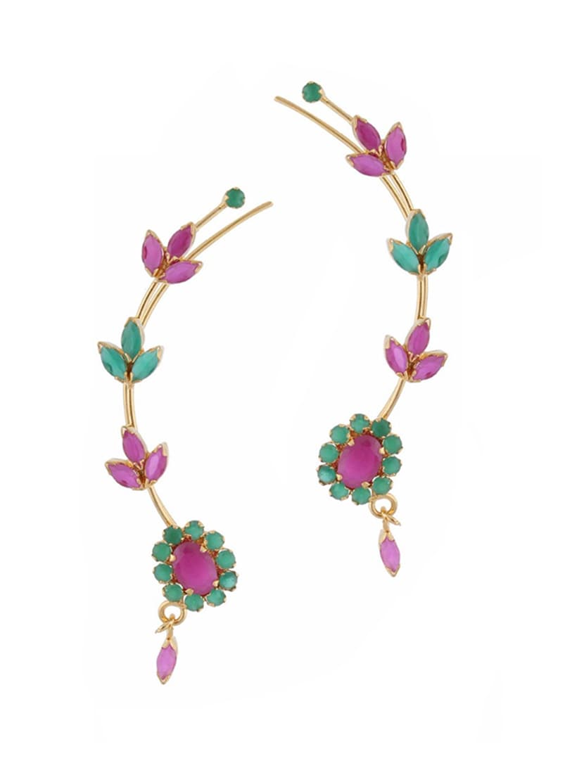 Buy Multi Colored Gold Plated Earring for Women from Parijaat for