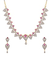 White Gold Plated Bridal Necklace - By