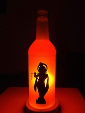 Krishna Silhouette Printed Bottle Lamp - Kavi The Poetry Art Project