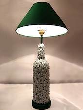 Glass Marbles Embellished Bottle Table Lamp - Kavi The Poetry Art Project