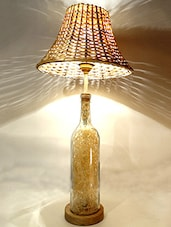 Hay Filled Glass Bottle Table Lamp - Kavi The Poetry Art Project