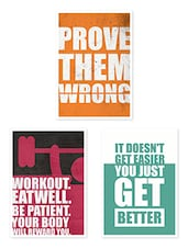 Gym Fitness & Workout Quoted Poster Set - Lab No. 4 - Poster
