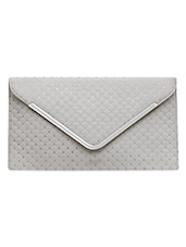 Envelop Inspired Quilted White Leatherette Sling Bag - FOSTELO