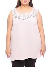 Pastel Pink Sleeveless Cotton Top - PLUSS