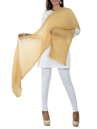 beige cotton stole -  online shopping for Stoles