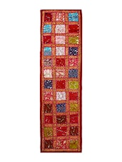 Multi Colored Adda Work Cotton Table Runner - By - 11410416