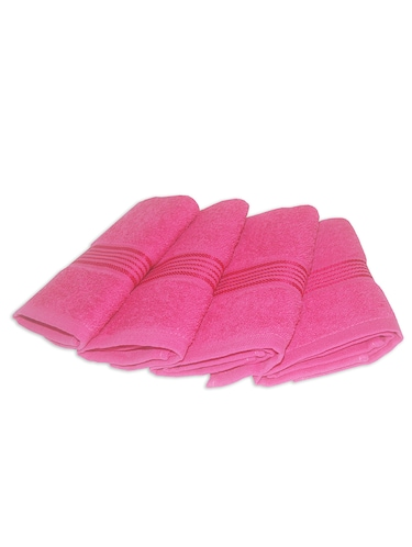 pink cotton face towel set of 4 - 11419330 - Standard Image - 1
