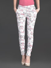 Floral Print Poly-cotton Lycra Jeggings - AGC By Pretty Angel