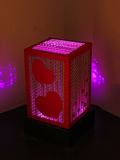 Cuboid Shaped Hearts Embellished Table Lamp - Sylvn Studio