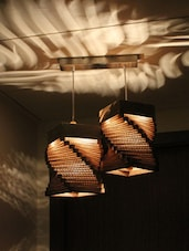 Helix Shaped Twin Hanging Lamp - Sylvn Studio