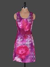 Floral Print Round Neck Sleeveless Cotton Dress - Rain And Rainbow