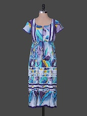 Multicolor Gather Print Cotton Kurta - Rain And Rainbow
