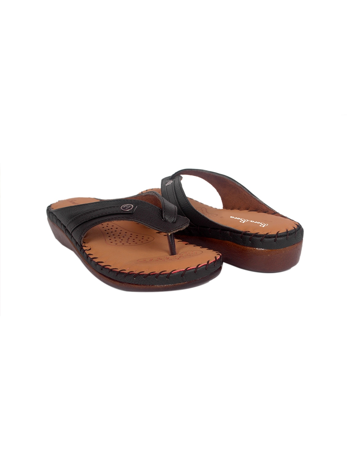 941d07e7b57d Buy Black Faux Leather Slippers by Studio 09 - Online shopping for Flip  Flops in India