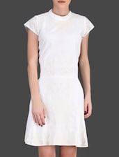 Embroidered Off-White Dress - LABEL Ritu Kumar
