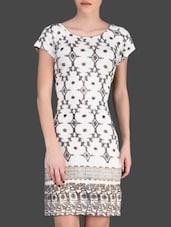 Gold Printed White Dress - LABEL Ritu Kumar