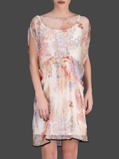 Floral Printed Cream Dress - LABEL Ritu Kumar