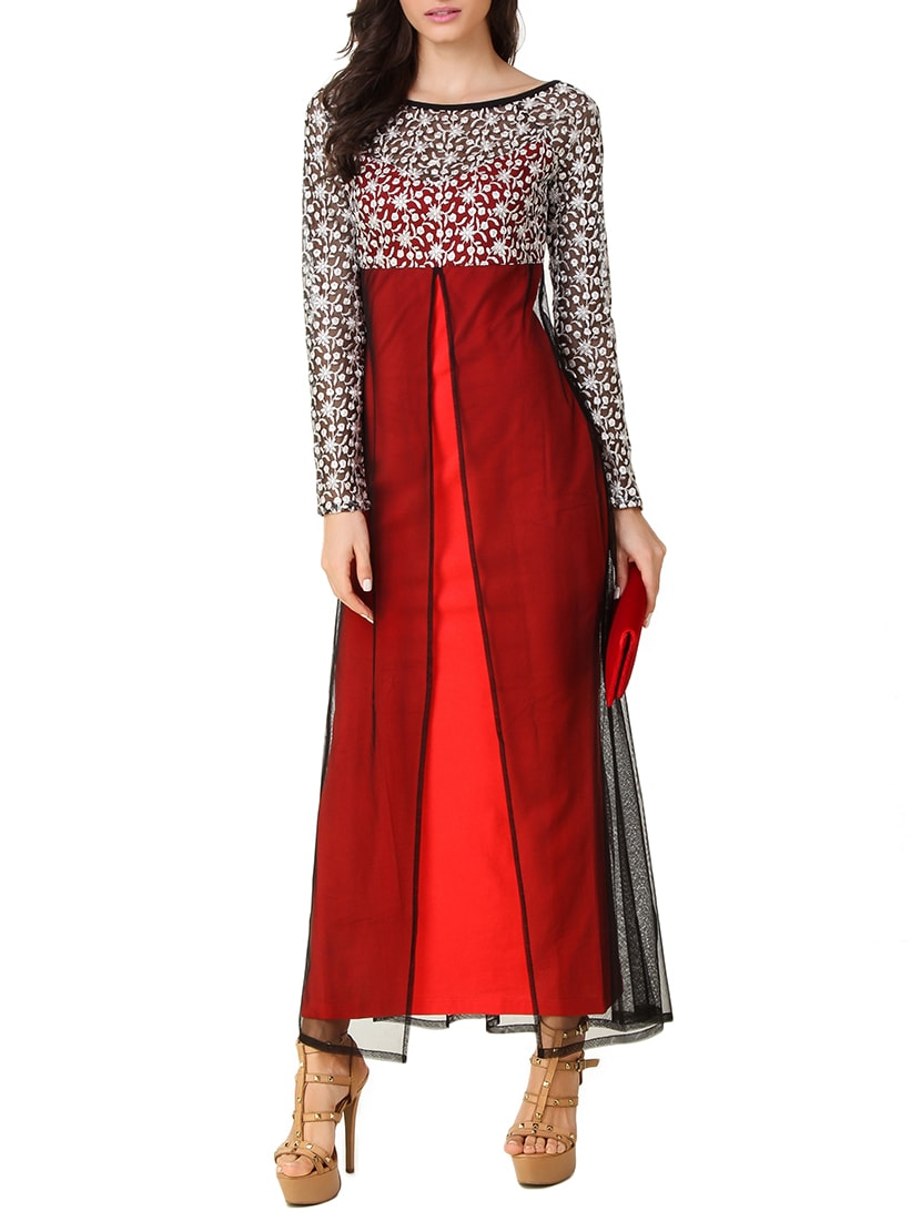 a029c7bdab Buy Red Net Maxi Dress for Women from Texco for ₹1662 at 33% off ...