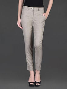 Buy Light Yellow Formal Trouser By Fast N Fashion - Online Shopping For Trousers In India | 1145926