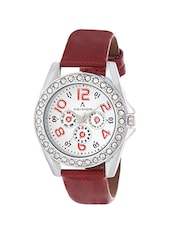 red studded wrist watch -  online shopping for Analog watches