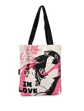 Lost In Love Printed Tote Bag - Kanvas Katha
